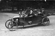 BEDELIA Cycle Car.Photos. Possibly in Paris, early 1920s.