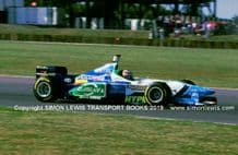 Benetton-Ford B196. Photo. Gerhard Berger. British GP 1996