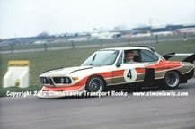 BMW 3.5 CSL Group 5 . John Fitzpatrick. Photo. Silverstone April 1976 (demo)