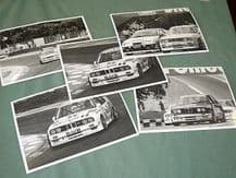 "BMW M3 (E30) set of 5 original period early 1990s BTCC 7x5"" B&W photos (A)"