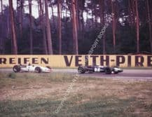 Brabham BT23C & BMW 269 F2 . Bill Ivy  & Dieter Questor Hockenhiem 1969. Colour photo