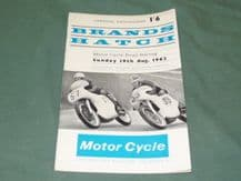 Brands Hatch 1962 Aug 19th Motorcycle Road Races programme
