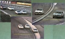 BRANDS HATCH RAC SALOON  3x 7x5 photos Oct 24 1976 Gerry Marshall, Walkinshaw, Spice, Rouse, Craft