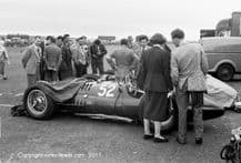 BRM V16 Mk 1 in the paddock Turnberry 1952