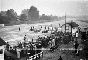 Brooklands 500 miles race 1932. Photo of Start with MGs.