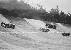 BROOKLANDS 500 Miles Race 1932. Photo. BENTLEY(Dunfee) Riley 9's and MG