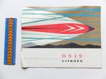 CITROEN DS19 Original brochure circa 1957.
