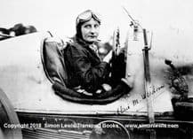 Elsie Wisdom in the Leyland Thomas  at Brooklands c.1931