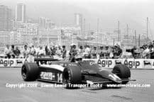 Ensign  MN181. Roberto Guerrero . Photo. Monaco GP 1982