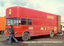 "Ferrari F1 Team Transporter. Silverstone paddock in 1975 10x7"" amateur photo"