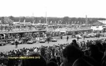 """Ferrari Factory team cars lined up before start Le Mans 1955  10x7"""" photo"""