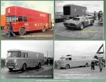 "Ferrari & Maserati 4x Race Team Transporter photos 1951,1954,1967,1975(all 7x5"")"