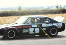 "FORD CAPRI V8  Super Saloon Tony Strawson Silverstone 1976 5x7"" photo"