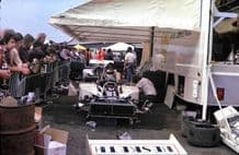 HESKETH 308 team in paddock 1974 British GP photo