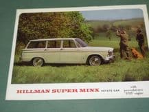 "HILLMAN SUPER MINX ESTATE ""With Powerful new 1,725 engine"" brochure (1960s)"