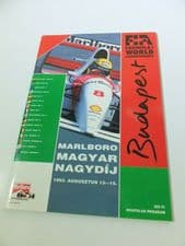 HUNGARIAN GP F1 1993 Programme Signed by SENNA, HILL, ANDRETTI, BERGER, ALESI