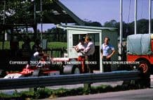 Iso Marlboro IR02 (Williams) photo. Lafitte's car in Goodwood Pit with Frank Williams,Testing 1974