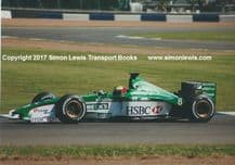 JAGUAR R1 F1 Luciano Burti at speed, testing at Silverstone 2000 . Photo (a)