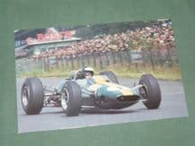 JIM CLARK Lotus 33. 1965 GERMAN GP Postcard (Card School)