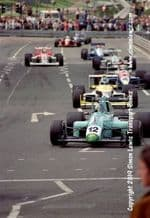 Leyton House March 90B photo  Paul Warwick.  1990 Birmingham Superprix F3000 (a)