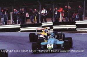 Leyton House March 90B photo  Paul Warwick.  1990 Brands Hatch F3000 (c)