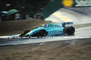 Leyton House March 90B photo  Paul Warwick.  1990 Brands Hatch F3000 (g)