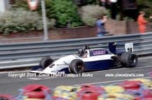 Lola T90/50 Tickford. Photo. Damon Hill 1990 Birmingham Superprix F3000 (a)