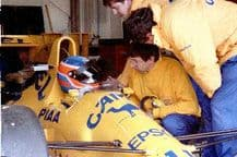 Lotus 101 Judd Donnely 1989 Silverstone test (b)