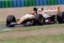 Lotus 109 Herbert at speed French GP 1994 (a)