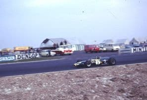 Lotus 48 F2 Jackie Oliver Color Thruxton 1968