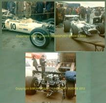 """LOTUS 49 Pete Lovely 1970 Race of Champs Brands Hatch set of 3 photos (5x5"""")"""