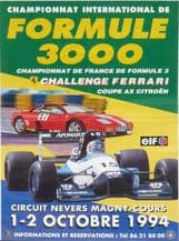 """MAGNY COURS F3000 Original 1994 poster 16x23.6 """" (400x605mm)"""