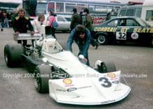 March 751 Cosworth GAA. Damien Magee. Photo. Paddock .Mallory Park Shellsport 5000 March 1976