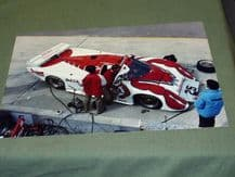 "MARCH 84G RED LOBSTER IMSA C.1986  PIT LANE 12x8"" photo"