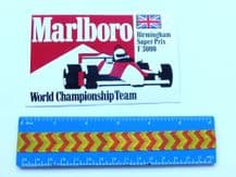 MARLBORO  Birmingham Super Prix  (F3000)   sticker  unused