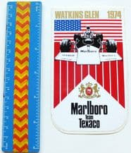 MARLBORO Watkins Glen 1974 (US GP)   sticker  unused