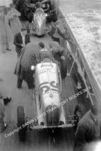 MASERATI 4CM DeGraffenried's car Isle of Man 1937 - on board the Steam Packet boat.