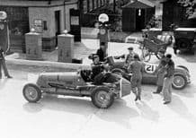 Maserati 8CM (Bira) and 4CL (Wakefield) Refuelling by Brooklands petrol pumps(b)