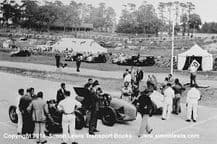 Maserati 8CM, ERA, Multi Union. Photo. B Bira stood centre. 1938 JCC 200 milesl  Brooklands