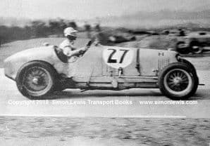 Maserati 8CM. Photo. B Bira. 1937  Campbell Trophy . Brooklands
