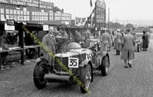 MG 35 Weir-Monkhouse outside its  pit  Donington TT 1938