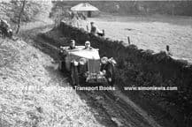 MG TA (ABL 960) Maurice Toulmin 1937 Edinburgh Trial. Photo on Costerton section