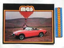 MGB original 1978 large brochure 8 pages. USA Issue