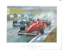 MICHAEL SCHUMACHER Ferrari 1996 SPANISH GP by MICHAEL TURNER