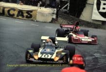 Modus M3 ( Dickson) leads Brabham BT42 (Cavesco) , Shellsport 5000 photo. Mallory  March 1976