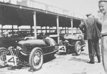 Morgan 3 wheelers 4A and 4B Brooklands pits 1930s Relay