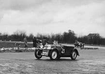 Morgan 4/4 PW Hughes at Castle Combe 1951