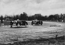 Morgan 4/4 PW Hughes & MG, W Bradley at Castle Combe 1951