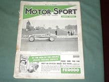 MOTOR SPORT 1937 September edition Vol XIII No.10