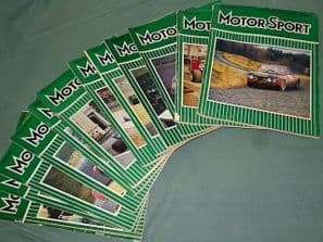 MOTOR SPORT 1971 Complete less October issue